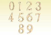 Brass Door Numeral