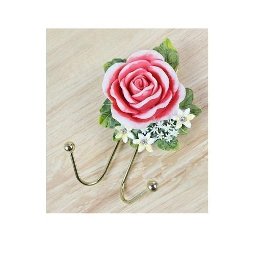 Double Rose Flower Wall Hanging Hook